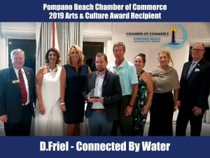 Pompano Beach Chamber of Commerce 2019 Arts & Culture Award Awarded to Connected By Water
