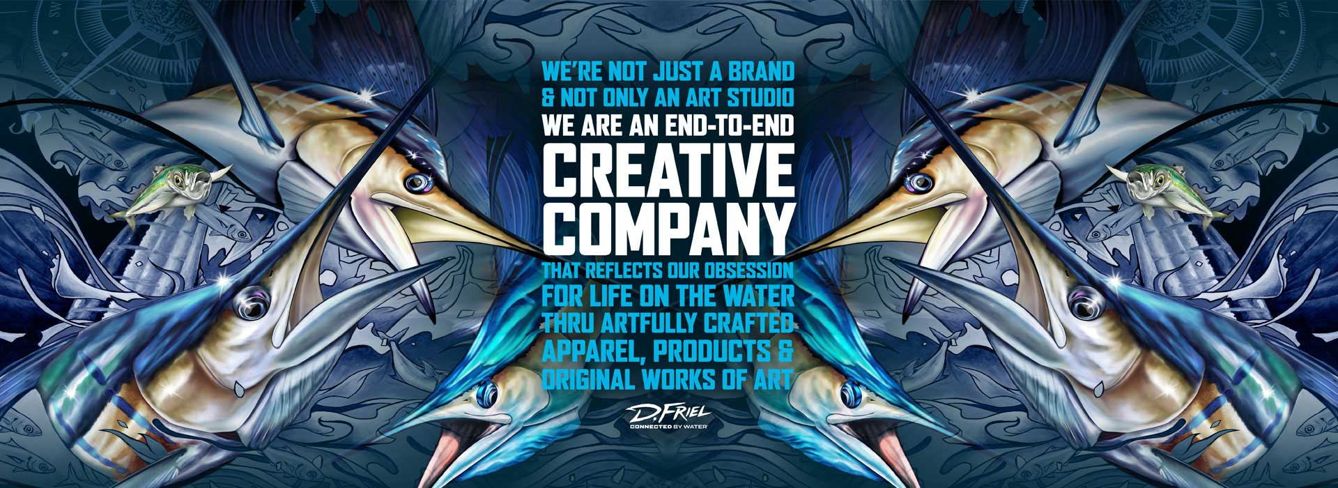 Creative Company Sailfish connected by water