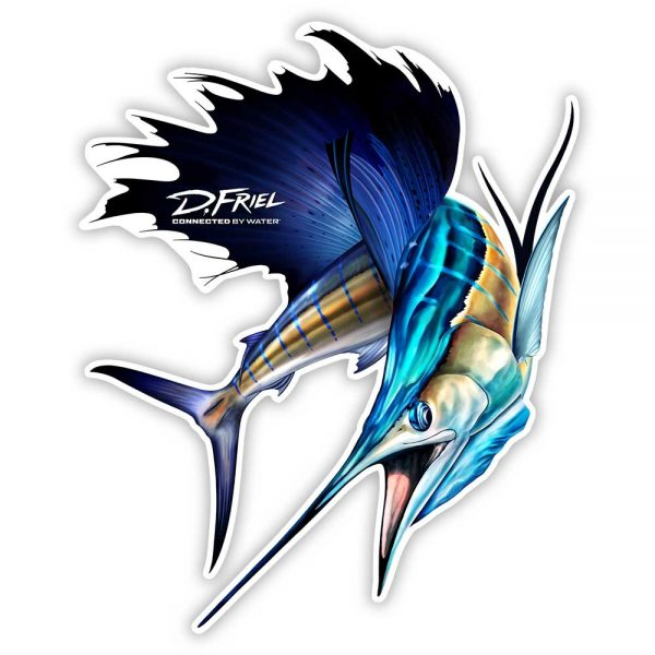 "Sailfish 8"" Sticker by D.Friel - Connected By Water"