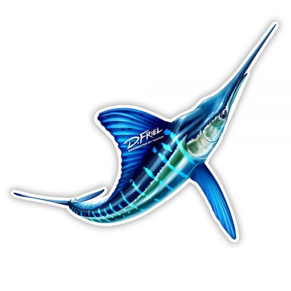 "White Marlin 8"" Sticker by D.Friel - Connected By Water"