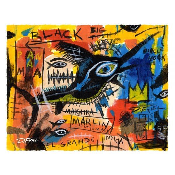 Art Legends: Basquiat's Marlin by D.Friel - Connected By Water