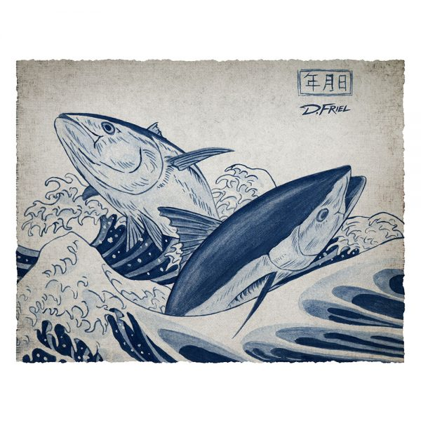 Art Legends: Hokusai's Bluefin by D.Friel - Connected by Water