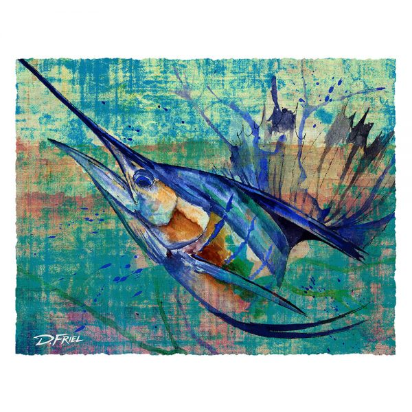 Paper Study Print Converge: Sailfish No.1 by D.Friel - Connected by Water