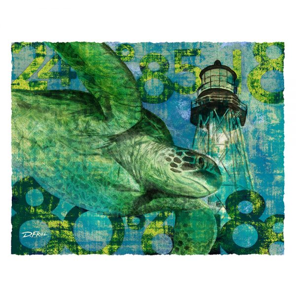 Coordinates Alligator Reef | Paper Study Prints | by D.Friel - Connected by Water